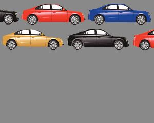different colors of cars