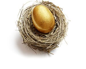 golden egg in a bird's nest